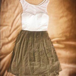 💚CITY TRIANGLES SHEER TOP DRESS